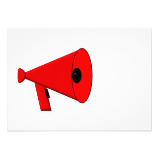 Megáfono/megáfono Invitaciones Personalizada