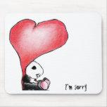Megg: Una panda linda - corazón, lo siento Tapete De Raton
