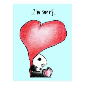 Megg: Una panda linda - corazón, lo siento, postal