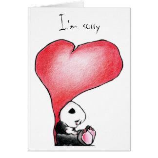 Megg: Una panda linda - corazón, lo siento, Tarjeta