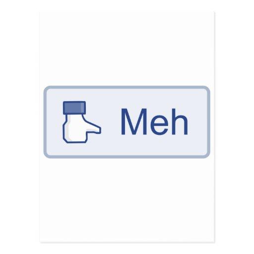 Meh - Facebook Tarjetas Postales