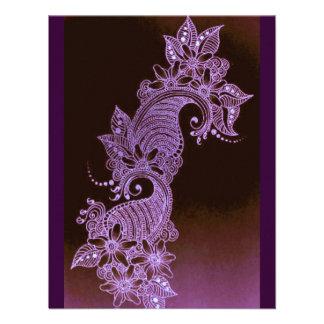 mehndi violeta 2 florales de la alheña invitacion personal