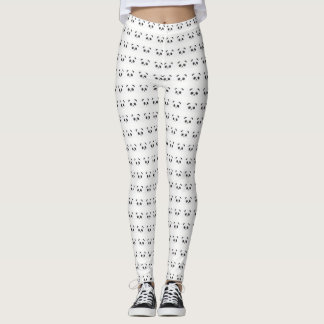 Mejilla rosada atractiva china blanco y negro del leggings