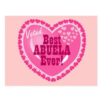 ¡MEJOR Abuela votado nunca! Postal