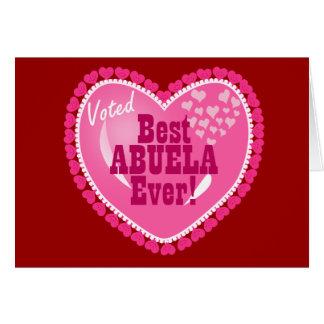 ¡MEJOR Abuela votado nunca! Tarjeta De Felicitación