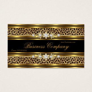 Mejor ADORNADO del oro del negro elegante del Tarjeta De Visita