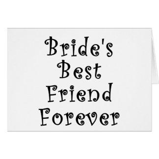 Mejor amigo de las novias para siempre tarjeta de felicitación