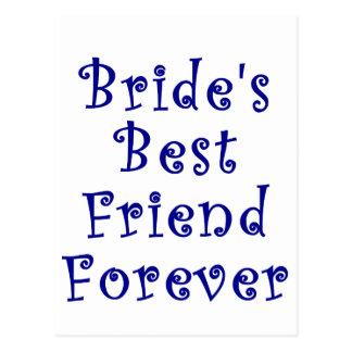 Mejor amigo de las novias para siempre postal