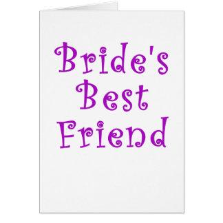 Mejor amigo de las novias tarjeta de felicitación