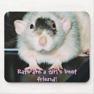 ¡Mejor amigo de las ratas! Alfombrilla De Ratón