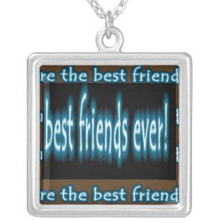 Mejor amigo nunca colgante cuadrado