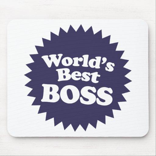 Mejor Boss del mundo Alfombrillas De Ratones