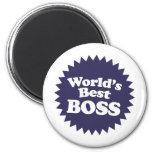 Mejor Boss del mundo Imán De Nevera