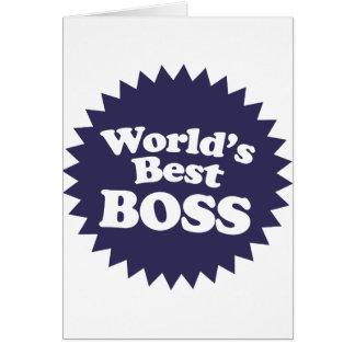 Mejor Boss del mundo Tarjeta De Felicitación