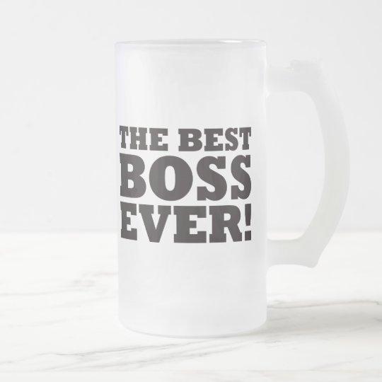 Mejor Boss nunca Jarra De Cerveza Esmerilada