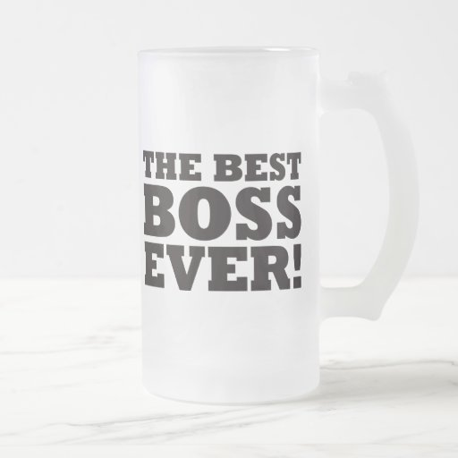 Mejor Boss nunca Taza Cristal Mate