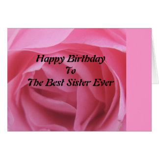 Mejor cumpleaños color de rosa rosado GreetingCard Tarjeta De Felicitación