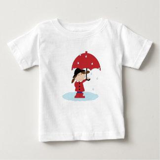 Mejor de días lluviosos - camiseta del bebé