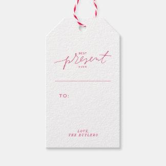 Mejor del presente etiquetas del regalo nunca - etiquetas para regalos