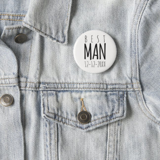 Mejor hombre moderno que casa el botón del Pin