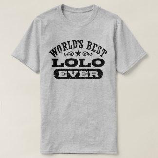 Mejor Lolo del mundo nunca Camiseta