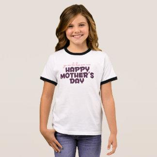 Mejor mamá simple de la camisa del campanero de la