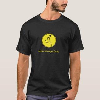 Mejor, más fuerte, más rápidamente (amarillo) camiseta