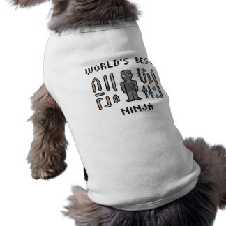Mejor Ninja del mundo Camiseta Sin Mangas Para Perro