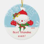 Mejor ornamento lindo del navidad del muñeco de ornatos