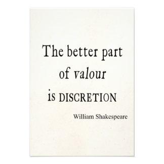 Mejor parte de la cita de Shakespeare de discreció Invitación Personalizada