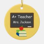 Mejor pizarra personalizada del profesor ornaments para arbol de navidad