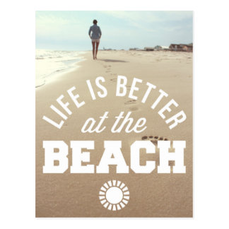 Mejore en la playa postal