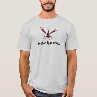 Mejore que la camiseta de los cangrejos de los