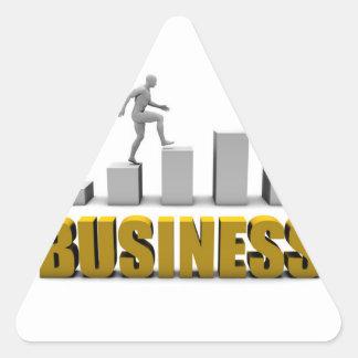Mejore su negocio o proceso de negocio pegatina triangular