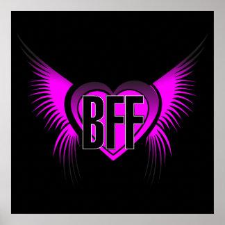 Mejores amigos de BFF para siempre Póster