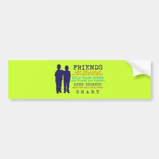 Mejores amigos de la amistad de los amigos pegatina para coche