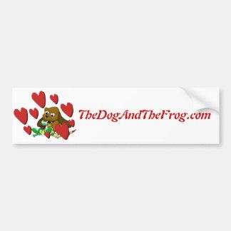 mejores amigos de la rana del perro de los regalos etiqueta de parachoque