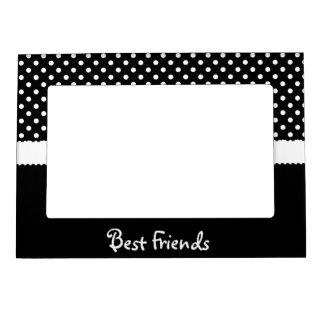Mejores amigos negros y blancos del lunar marcos magneticos de fotos