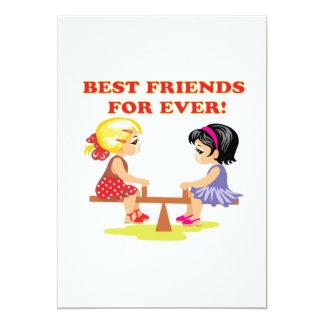 Mejores amigos para nunca invitación 12,7 x 17,8 cm