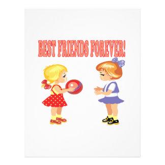 Mejores amigos para siempre tarjetas publicitarias