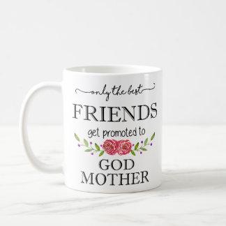 Mejores amigos promovidos a la madre de dios taza de café
