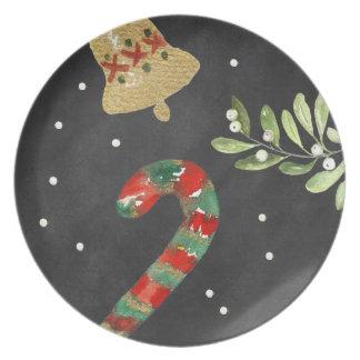 Melamina del bastón de caramelo de la placa del platos para fiestas
