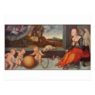 Melancolía por Lucas Cranach la anciano Postal