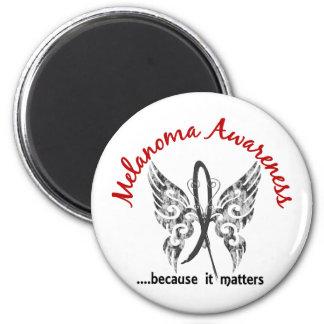 Melanoma de la mariposa 6,1 del tatuaje del Grunge Imán Redondo 5 Cm