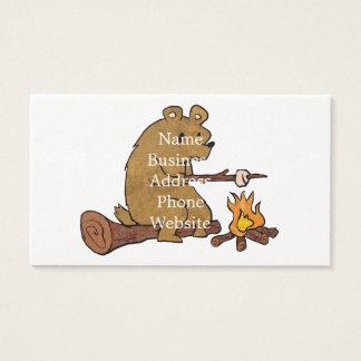 melcochas de la asación del oso tarjeta de negocios