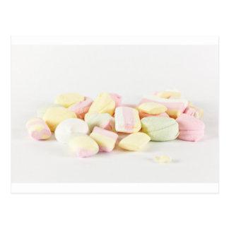 Melcochas de los caramelos postal