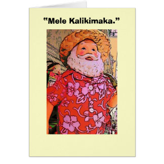 """Mele Kalikimaka. "" Tarjeton"