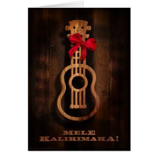 ¡Mele Kalikimaka! Tarjeta de Navidad del Ukulele