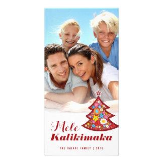 Mele Kalimaka florece la tarjeta de la foto del