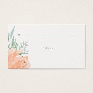 Melocotón delicado floral y tarjetas del